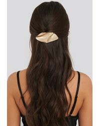 NA-KD Gold Bended Metal Hair Clip - Metallic