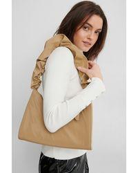 NA-KD Beige Frilled Nylon Bag - Multicolour