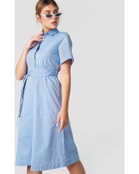 Mango - Carpas Dress Sky Blue - Lyst