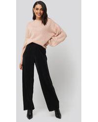 NA-KD Wide Pleated Pants - Noir