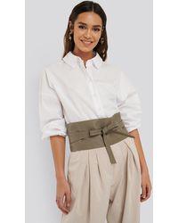 NA-KD Accessories Layered Oversize Waist Belt - Grün