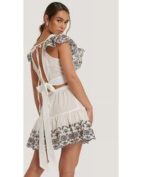 Trendyol Embroidered Summer Set - Wit