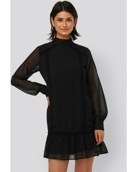 NA-KD Maxi-jurk - Zwart