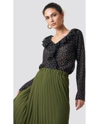 7971944dd3b6b Lyst - Vince Camuto Poetic Dots Off The Shoulder Blouse in Black