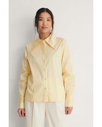 NA-KD Classic Organisch Shirt - Geel