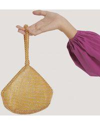 NA-KD Gold Metal Strass Bag - Metallic