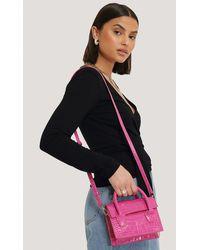 NA-KD Pink Two Way Mini Top Handle Bag