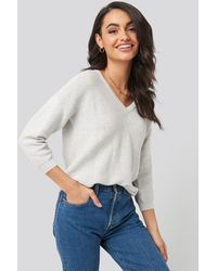 Trendyol V-Neck Sweater - Grau