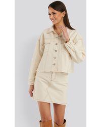 Trendyol White,offwhite Basic Denim Skirt - Multicolour