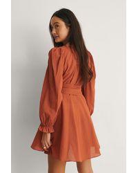 Trendyol Orange Belted Beach Mini Dress