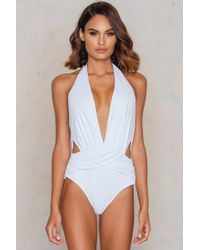 Lavish Alice - Ruche Front Swimsuit - Lyst