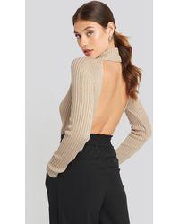 NA-KD Open Back Ribbed Sweater - Meerkleurig