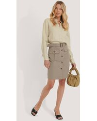 NA-KD Belted Cargo Pockets Mini Skirt - Multicolore
