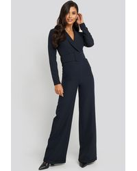 Trendyol Waist Belted Jumpsuit - Blauw