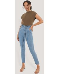 Rut&Circle Paperwaist-Jeans - Blau