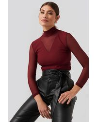 Trendyol Transparent Knitted Blouse - Rot