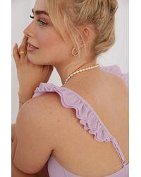 NA-KD Melissa Bentsen x Recycelt Rüschen-Detail Bikini-Oberteil - Lila
