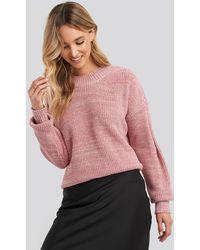Trendyol Multicolour Yarn Knitted Sweater - Roze
