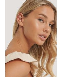 NA-KD Gold Up And Down In-ear Cuff - Metallic