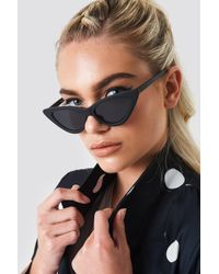 NA-KD - Pointy Cat Eye Sunglasses Matte Black - Lyst