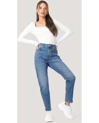 NA-KD Mom Jeans - Blauw