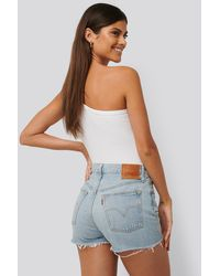 Levi's 501 High Rise Shorts - Blauw