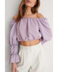 Trendyol Purple Off Shoulder Blouse