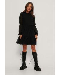 Trendyol Black Mini Mesh Sleeve Dress