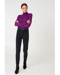 NA-KD - Pearl Denim Pants - Lyst