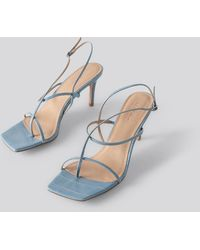 NA-KD Strappy Stiletto Sandals - Blauw