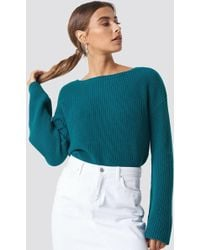 NA-KD - Cropped Long Sleeve Knitted Sweater - Lyst