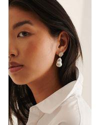 NA-KD Accessories Boucles D'Oreilles Épaisses Recyclées En Perles - Métallisé