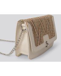 NA-KD - White Strawy Detailed Flap Bag - Lyst