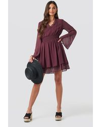 NA-KD - Boho Shirred Waist Detail Dress - Lyst