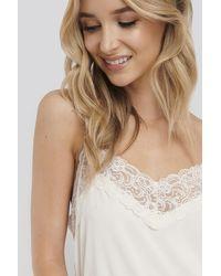 NA-KD White Lace Detail Night Dress