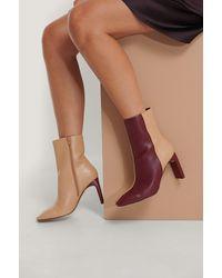 NA-KD Shoes Stiefel Mit Eckiger Zehenpartie - Lila
