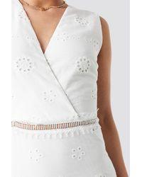 Trendyol Brocade Mini Dress - Wit