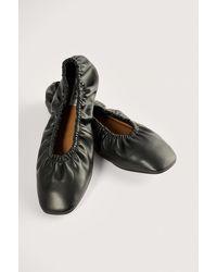 NA-KD Shoes Ingerimpelde Ballerina's - Zwart