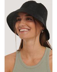 NA-KD Organza Bucket Hat - Zwart