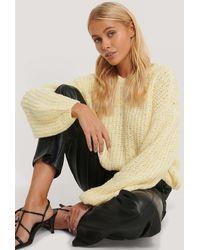 NA-KD - Balloon Sleeve Melange Sweater - Lyst