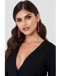 NA-KD - Hanging Row Stone Earrings - Lyst