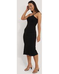 NA-KD - Trend Ribbed One Shoulder Dress - Lyst