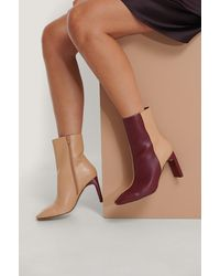 NA-KD Shoes Laarzen Met Vierkante Neus - Paars