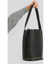NA-KD Black Studded Shopper