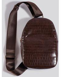 NA-KD One Strap Sling Bag Brown