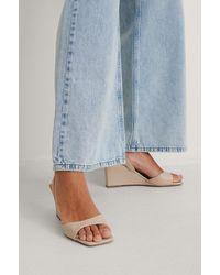 NA-KD Shoes Slingback-Pumps - Natur