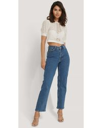 NA-KD Rechte Jeans - Blauw