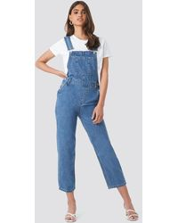 NA-KD Denim Dungaree - Bleu