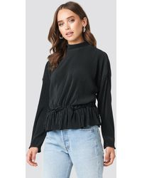 NA-KD - Trend Pleated High Neck Long Sleeve Top - Lyst