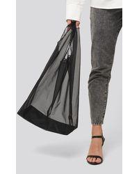 NA-KD Organza Shopper Bag - Zwart
